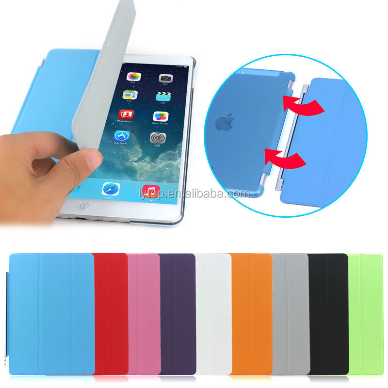 3 segment magnetic smart cover For iPad Air 2, For iPad Air 2 Smart Case Cover