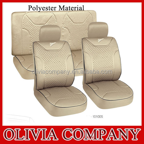 Luxury Polyester Mesh Car Seat Cover Design