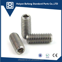 good quality and supplier DIN417 Slotted set screws with long point socket set screws