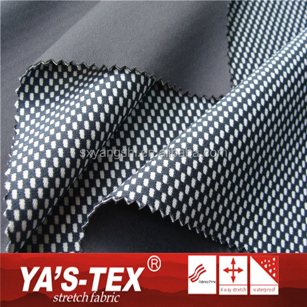 Wholesale Double Color Plaid Cation Stretch Polyester TPE Fabric For Sportswear