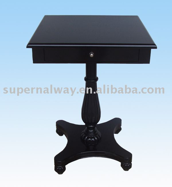 PU furniture decorative small table with drawer