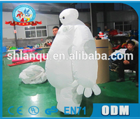Lanqu high quality inflatable baymax mascot custom/inflatable robot baymax