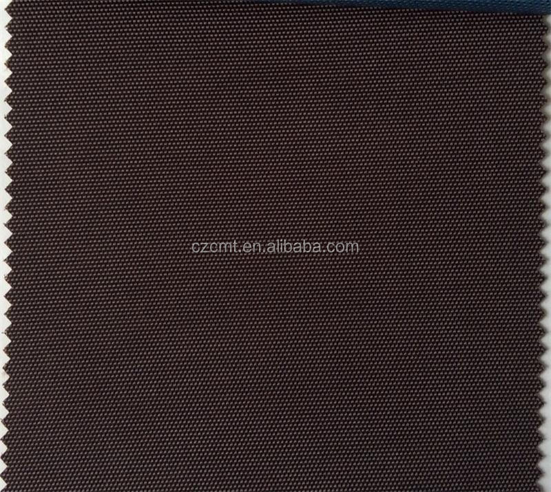 600D waterproof oxford cloth brown PU fabric