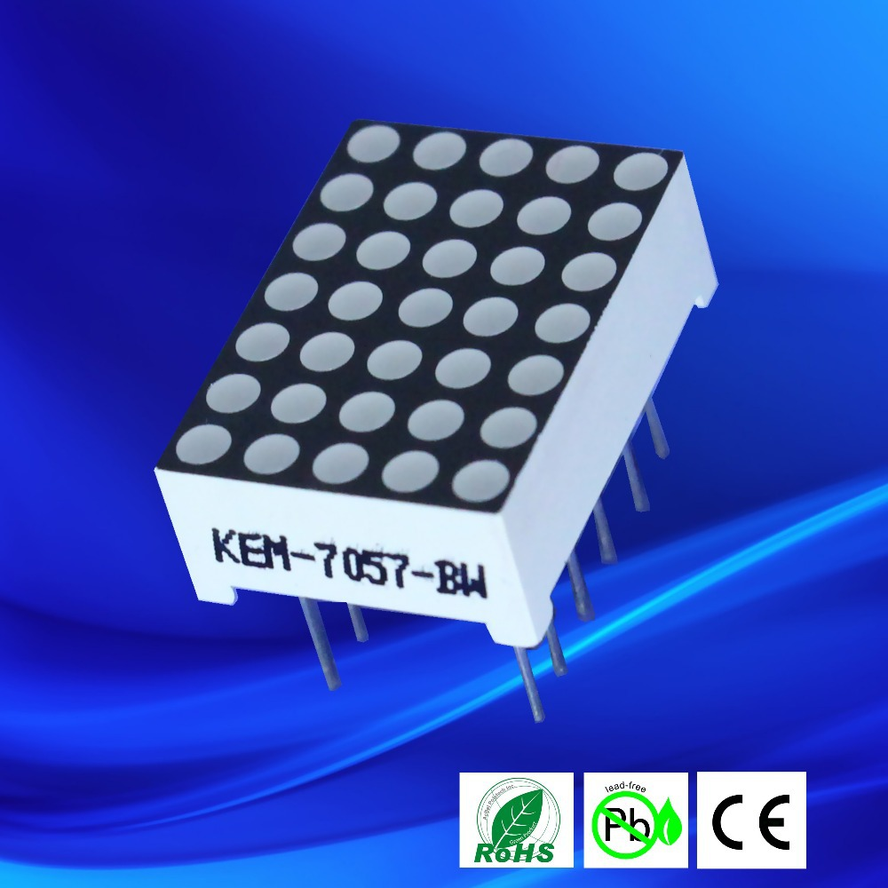 1.9mm 5x7 led dot matrix, dot matrix led display,led matrix light