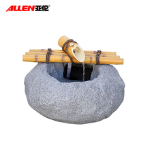 Zen garden resin bamboo water flow tabletop fountain indoor home decoration