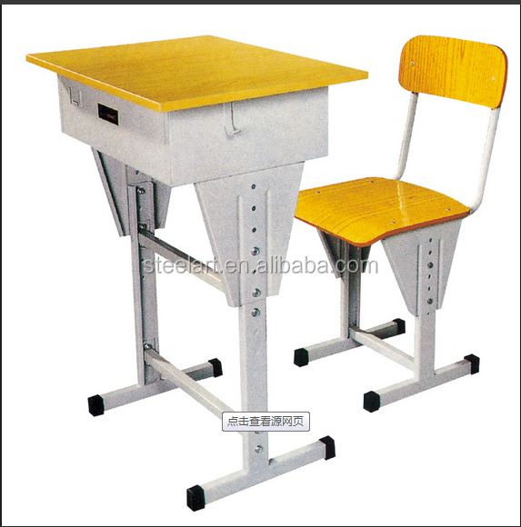 Commercial school furniture metal frame school desk sets