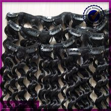 Tangle&shedding free 7A premiun quality brazilian human hair, kinky curly clip in hair extensions