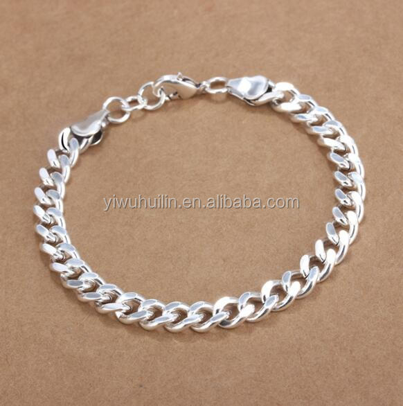 YFY5023 Yiwu Huilin Jewelry Fashionable Simple personality silver punk chain bracelet homme