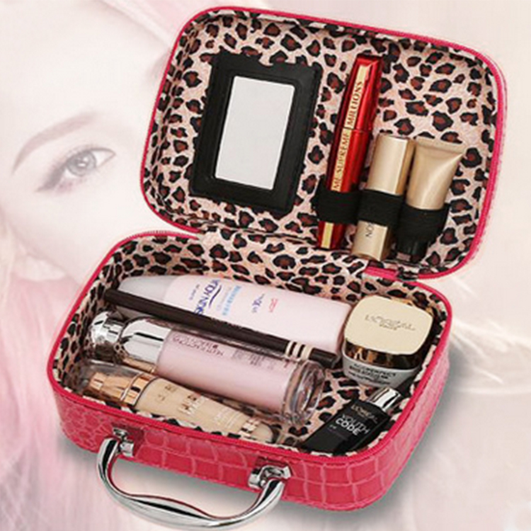 Vogue pure stone pattern makeup bag travel Hand-held waterproof toiletry box leather cosmetic bag