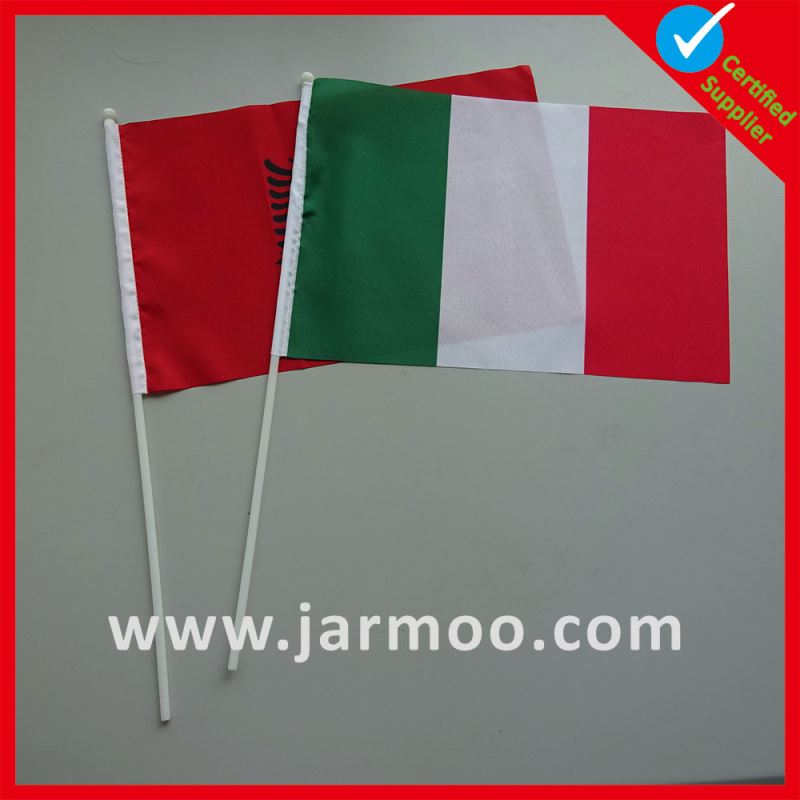 high quality PVC union jack hand waving flags with plastic pole