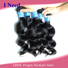 loose wave Indian hair weft 1kg 100% loose human hair bulk extension