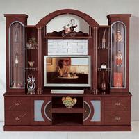 Living room MDF tv desk 801 modern wood led tv marble granite wall unit designs