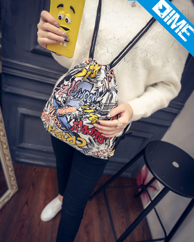 Cute drawstring backpack bag wholesale gym bag for kids on sale