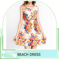 factory wholesale Chiffon women floral sexy young girl Beach summer Dress
