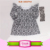 Cotton baby dress smock children frocks designs fashion pattern girls pearl tunic kids long icing flutter sleeve dress tunics