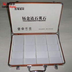 Granite stone suitcase display box sample case