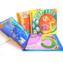 plastic comb binding hardcover double side printed coated paper child book