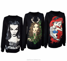 Halloween costume wholesale polyester bulk tall personalized sublimation custom hoodies women extra long