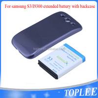 OEM China Factory Etended Replacement Mobile Phone Battery 4800mAh Capacity + Back Cover Case For Samsung S3 i9300