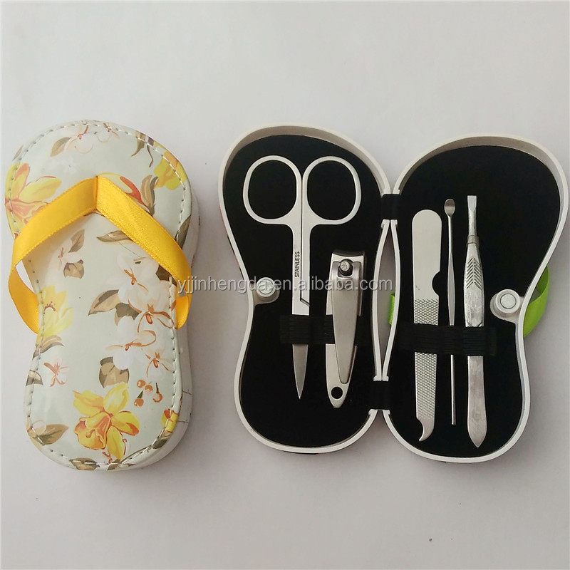Hot sale stainless steel 5 pcs manicure kit