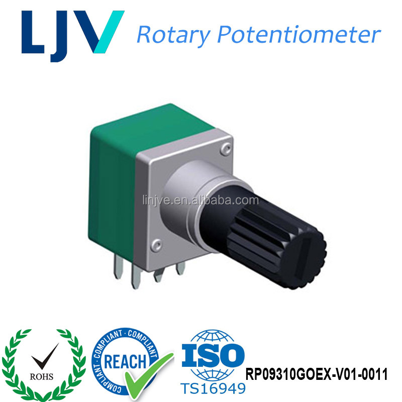 Dongguan LJV Panel Mount Plastic Shaft B20K Rotary Resistive Potentiometer Manufacturer