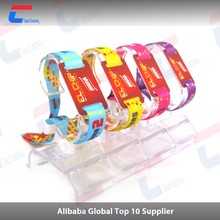 Woven/nylon/paper bracelet ISO14443 NFC chip 13.56MHz adjustable silicone RFID wristband