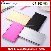 Universal External Portable Super Thin Slim Power Bank 6000mah In china factory, Colorful Power Bank Aluminum