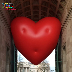 helium lovely inflatable red heart for Square display used