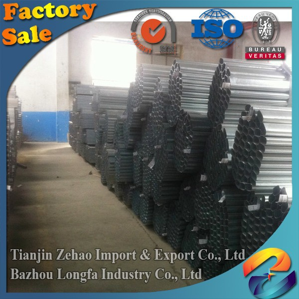 FACO Steel Group ! galvanized collared steel tube pre galvanized steel piping 2 inch