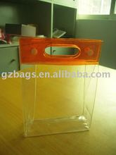 orange PVC die cut bag / organge punching bag /orange clear die cut bag with zipper lock