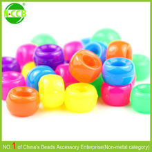 multi colors glow beads for school crafts kandi party projects 9x6mm Pony Beads