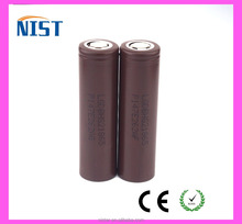 100% authentic lg hg2 chocolate battery 18650 HG2 3000mAh 20A VS HE4 3.6V 20A discharge rechargable battery