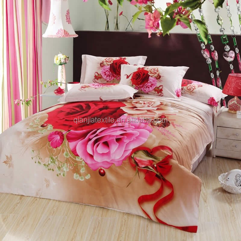 new fashion polyester printed bed sheet fabric