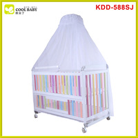 Wholesale products Steel baby playpen baby crib , multi-functional baby crib , baby crib hanging toy