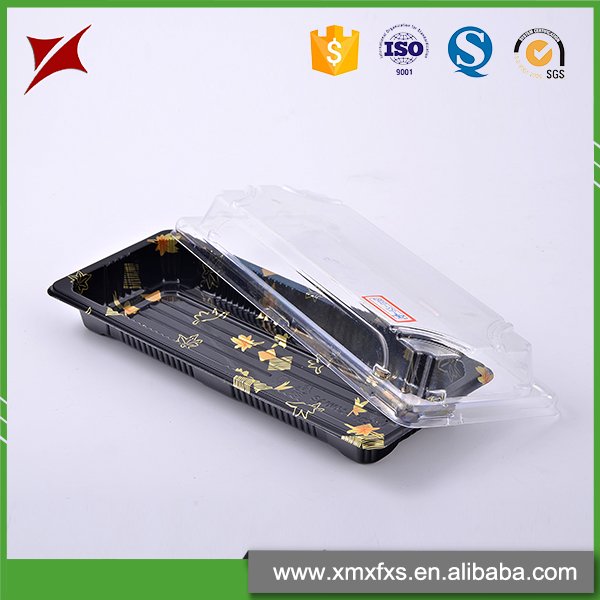 Explosion models embossing stamping PS plastic sushi tray