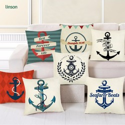 Wholesale custom design fashion printed linen pillow cover home decoration pillowcase sofa 45*45 square sofa seat cushion cover