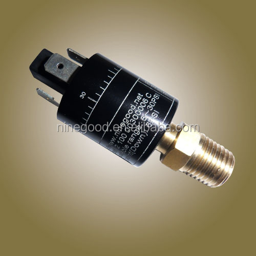 Adjustable water brake pressure switch