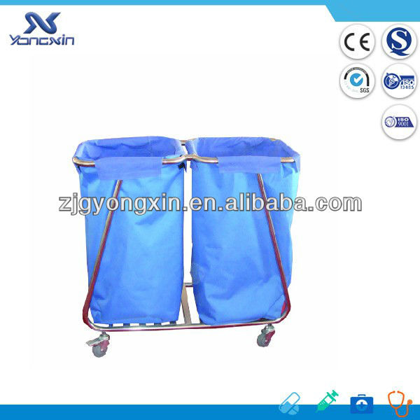 Stainless Steel Trolley for Laundry , Dirt Cart for hospital and hotel