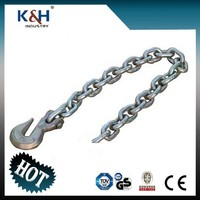 "Professional galvanized G70 5/16"" chain anchor with delta ring & eye grab hook"