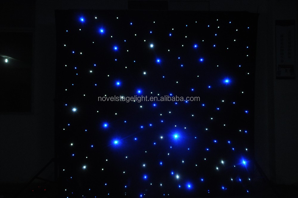 HI-COOL christmas lighting night club decor led star curtain