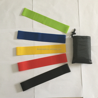 "12x2""(600x50mm) natural latex 5 pcs resistance band set combination including free carry bag"