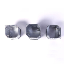 Metal Galvanized Junction Boxes Octagonal Box Electrical Connector Electronic Instrument Enclosures