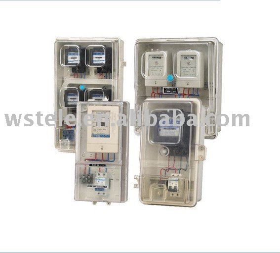 transparent KWH meter box