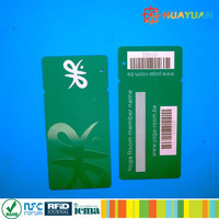 Loyalty Program 13.56MHz MIFARE Classic 1K NFC Membership Card with Barcode
