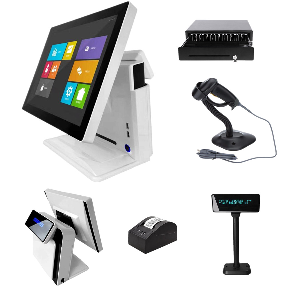 Made in china Black building 80mm thermal printer 15 inch touch screen all in one touch pos machine