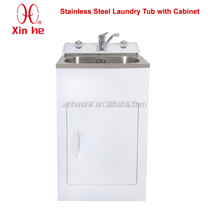 Stainless Steel Laundry Tub Cabinet, New Zealand Australia Stainless Steel Laundry Sink with Cabinet