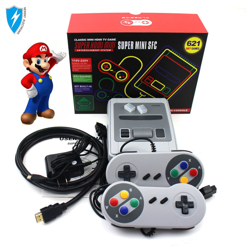 Mini game console SFC hot selling Built-in 621 games HD video console TV game