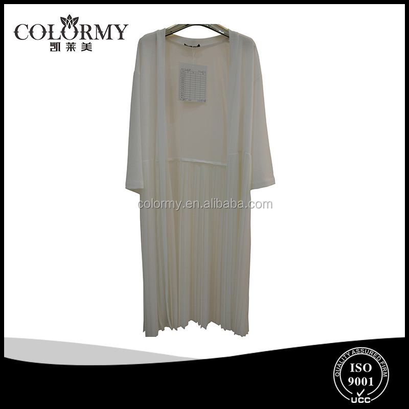 girls lightly spring filmy chiffon out wear long style new fashion ladies ruffle tunic outwear
