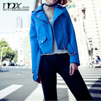 New Fashion Autumn Women's Jacket Selling Washing PU Leather Oblique Zipper Motorcycle Coats Clothing Short Jacket