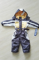 Stocklot one piece child snowsuits with hood fabric kids frozen snowsuit